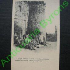 Postales: ALUMNOS VISITANDO EL CASTILLO DE GUADAMUR ACADEMIA DE INFANTERÍA. 1912. Lote 36674446