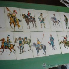 Postales: LOTE DE 12 POSTALES UNIFORMES MILITARES. 1968. . Lote 36712801