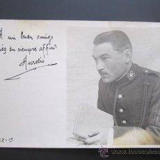 Postales: ANTIGUA POSTAL FOTOGRÁFICA MILITAR DEDICADA. UNIFORME SANIDAD. AÑO 1919.. Lote 37616060