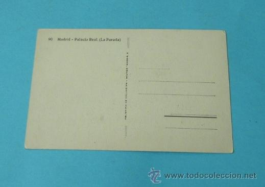 Postales: LA PARADA. PALACIO REAL. MADRID Nº 90. HELIOTIPIA DE KALLMEYER Y GAUTIER- MADRID - Foto 2 - 37982563
