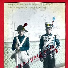 Postales: POSTAL MILITARES, EXPOSICION HISPANO FRANCESA DE ZARAGOZA , FOTOGRAFICA ,ORIGINAL , P78465. Lote 38024217