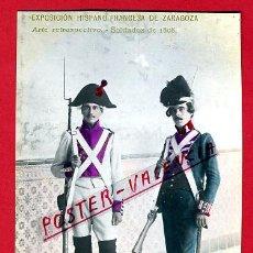 Postales: POSTAL MILITARES, EXPOSICION HISPANO FRANCESA DE ZARAGOZA , FOTOGRAFICA ,ORIGINAL , P78468. Lote 38024273