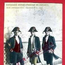 Postales: POSTAL MILITARES, EXPOSICION HISPANO FRANCESA DE ZARAGOZA , FOTOGRAFICA ,ORIGINAL , P78469. Lote 38024278