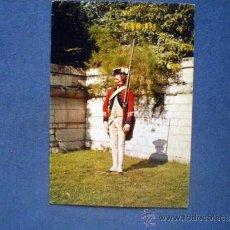 Postales: POSTAL MILITAR UNIFORME ANTIGUA MONARQUIA CAPORAL REGIMEN SUIZO COURTEN 1767 NO CIRCULADA. Lote 38588707