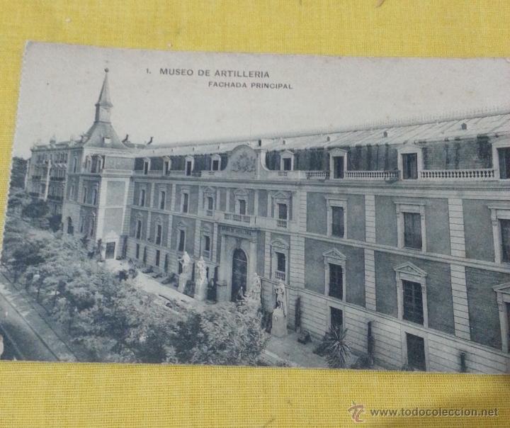 POSTAL ANTIGUA DE MADRID NUM 1 MUSEO DE ARTILLERÍA FACHADA PRINCIPAL FOTOTIPIA DE HAUSER Y MENET (Postales - Postales Temáticas - Militares)