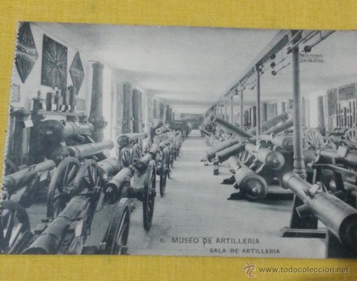 POSTAL ANTIGUA DE MADRID NUM 6 MUSEO DE ARTILLERÍA,SALA DE ARTILLERIA, FOTOTIPIA DE HAUSER Y MENET (Postales - Postales Temáticas - Militares)