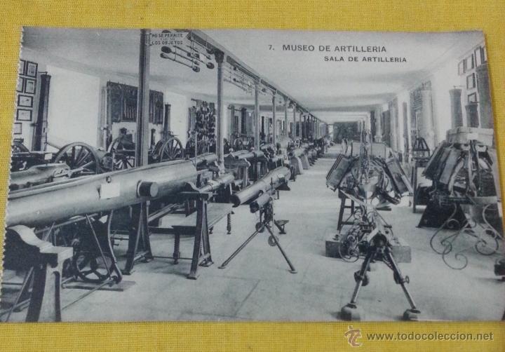 POSTAL ANTIGUA DE MADRID NUM 7 MUSEO DE ARTILLERÍA,SALA DE ARTILLERIA, FOTOTIPIA DE HAUSER Y MENET (Postales - Postales Temáticas - Militares)