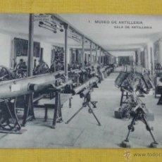 Postales: POSTAL ANTIGUA DE MADRID NUM 7 MUSEO DE ARTILLERÍA,SALA DE ARTILLERIA, FOTOTIPIA DE HAUSER Y MENET. Lote 39793810