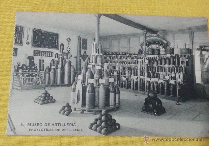 POSTAL ANTIGUA DE MADRID 8 MUSEO ARTILLERÍA,PROYECTILES DE ARTILLERIA, FOTOTIPIA DE HAUSER Y MENET (Postales - Postales Temáticas - Militares)