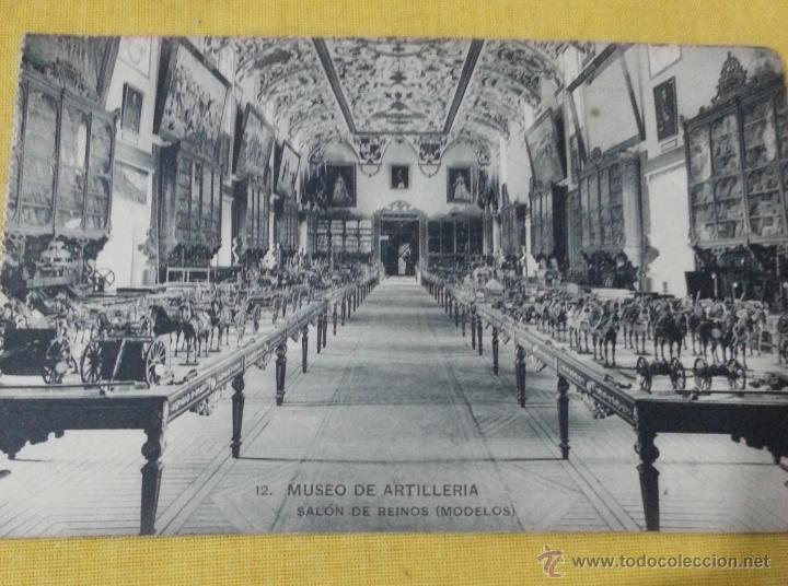 POSTAL ANTIGUA DE MADRID 12 MUSEO ARTILLERÍA,SALA DE REINOS (MODELOS), FOTOTIPIA DE HAUSER Y MENET (Postales - Postales Temáticas - Militares)
