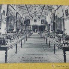 Postales: POSTAL ANTIGUA DE MADRID 12 MUSEO ARTILLERÍA,SALA DE REINOS (MODELOS), FOTOTIPIA DE HAUSER Y MENET. Lote 39793914
