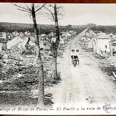 Postales: ANTIGUA POSTAL DE VAUX (FRANCIA) - EL PUEBLO Y LA RUTA DE PARIS - I GUERRA MUNDIAL .LL. SIN CIRCULAR. Lote 38235443