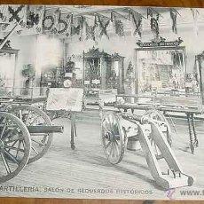 Postales: ANTIGUA POSTAL DEL MUSEO DE ARTILLERIA - SALON DE RECUERDOS HISTORICOS - FOTOTIPIA HAUSER Y MENET - . Lote 38245147