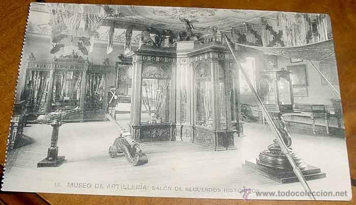ANTIGUA POSTAL DEL MUSEO DE ARTILLERIA - SALON DE RECUERDOS HISTORICOS - FOTOTIPIA HAUSER Y MENET - (Postales - Postales Temáticas - Militares)