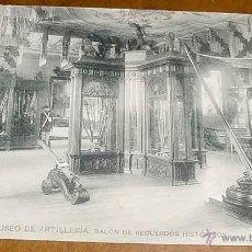 Postales: ANTIGUA POSTAL DEL MUSEO DE ARTILLERIA - SALON DE RECUERDOS HISTORICOS - FOTOTIPIA HAUSER Y MENET - . Lote 38245150