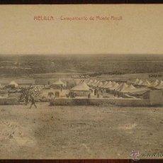 Postales: ANTIGUA POSTAL DE MELILLA - CAMPAMENTO DEL MONTE ARRUIT - NO CIRCULADA - ED. BOIX HERMANOS.. Lote 38260713