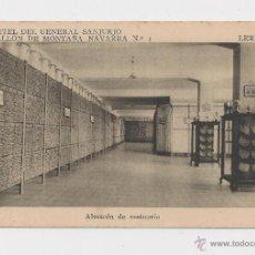 Postales: LERIDA CUARTEL DEL GENERAL SANJURJO ALMACEN DE VESTUARIO HACIA 1945 . Lote 40346922