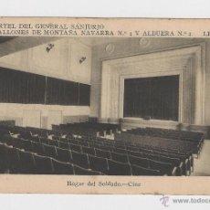 Postales: LERIDA CUARTEL DEL GENERAL SANJURJO HOGAR DEL SOLDADO.CINE HACIA 1945 . Lote 40347024