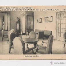 Postales: LERIDA CUARTEL DEL GENERAL SANJURJO SALA DE BANDERAS HACIA 1945 . Lote 40347094