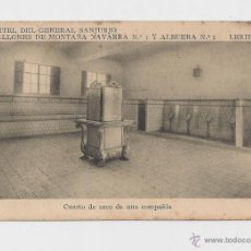 Postales: LERIDA CUARTEL DEL GENERAL SANJURJO ALMACEN HACIA 1945 . Lote 40347109