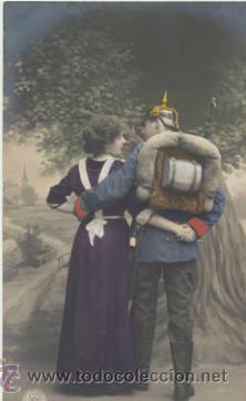 POSTAL PORTUGUESA. FRANQUEADA EN LISBOA EN 1913. (Postales - Postales Temáticas - Militares)