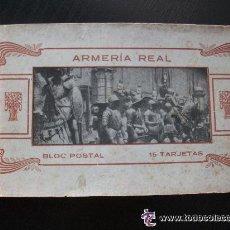 Postales: BLOC DE POSTALES DE LA ARMERIA REAL . COMPLETO : 15 POSTALES CON CELOFAN . PRINCIPIOS DE SIGLO .... Lote 40651886