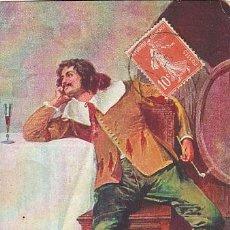Postales: MOSQUETERO DE LA ÉPOCA DE LUIS XIII. CIRCULADA EN 1909. Lote 41117527