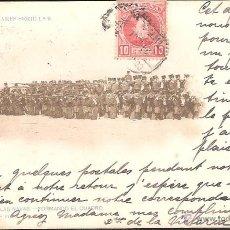 Postales: POSTAL ESCENAS MILITARES SERI 1ª 9 CAZADORES DE LAS NAVAS FORMANDO EL CUADRO FOT .POLENTINOS . Lote 41735889