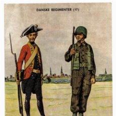 Postales: POSTAL DE SOLDADOS DANESES - DANSKE REGIMENTER - UNIFORMES SOLDADOS.. Lote 42134184