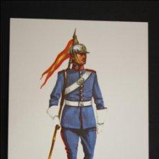 Postales: TARJETA POSTAL MILITAR - LANCEROS DEL REY EN UNIFORME DE GALA. ESPAÑA - 1976 - ILUSTRACIÓN SALAS. Lote 42359954