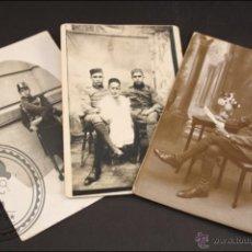 Postales: CONJUNTO DE 3 POSTALES FOTOGRÁFICAS MILITARES - SOLDADOS DE LA GUERRA DEL RIF - AÑOS 20. Lote 42614836