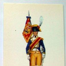 Postales: POSTAL UNIFORME MILITAR-PORTA ESTANDARTE REGIMIENTO INFANTE DE CABALLERIA DE LINEA 1808-PORTAL AÑO 1. Lote 87398711