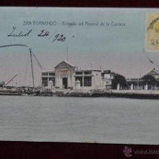 Postales: ANTIGUA POSTAL DE SAN FERNANDO. CADIZ. ENTRADA DEL ARSENAL DE LA CARRACA. CIRCULADA. Lote 43050651