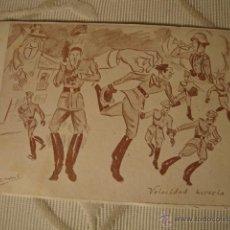 Postales: TARJETA POSTAL MILITAR ORIGINAL DIBUJOS, IMPRENTA ACADEMIA INFANTERIA DISPONER RESERVAS, Nº 8,C.1910. Lote 43115920