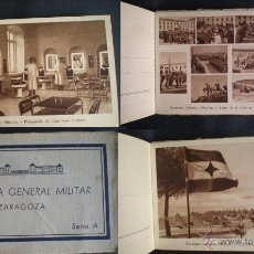 Postales: 3318 - ACADEMIA GENERAL MILITAR - ZARAGOZA - SERIE A -BLOCK DE 21 POSTALES - RIEUSSET (BARCELONA). Lote 43698436