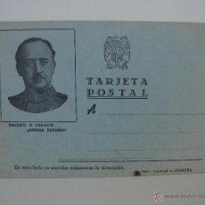Postales: TARJETA POSTAL FRANCO. BAZAR J. ZAMORA. AÑOS 40. Lote 44031542