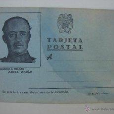 Postales: TARJETA POSTAL FRANCO. BAZAR J. ZAMORA. AÑOS 40. Lote 44031564