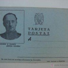 Postales: TARJETA POSTAL FRANCO. BAZAR J. ZAMORA. AÑOS 40. Lote 44031574