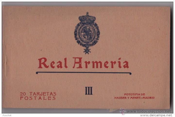 AÑOS 20 - ALBUM 20 DE POSTALES NUMERO III HAUSER Y MENET - MADRID - REAL ARMERIA - IMPECABLE (Postales - Postales Temáticas - Militares)