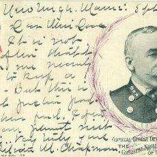 Postales: GUERRA HISPANOAMERICANA. FILIPINAS. COMODORO DEWEY. CIRCULADA EN 1899... Lote 44474100