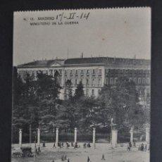 Postales: ANTIGUA POSTAL DE MADRID. MINISTERIO DE LA GUERRA. CIRCULADA. Lote 44664058