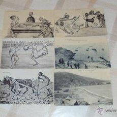 Postales: LOTE DE RARAS POSTALES MARRUECOS - GUERRA AFRICA. Lote 45035516