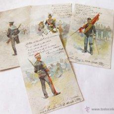 Postales: 4 POSTALES DE CUSACHS - POSTAL EDICION THOMAS BARCELONA CON LETRAS EN MARRON. Lote 45091303