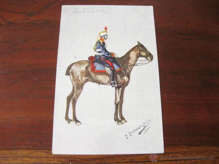 POSTAL MILITAR DE ARTILLERIA DIBUJADA POR PUMAROLA ALAIX - 1910 (Postales - Postales Temáticas - Militares)