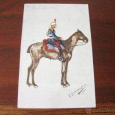 Postales: POSTAL MILITAR DE ARTILLERIA DIBUJADA POR PUMAROLA ALAIX - 1910. Lote 45092827