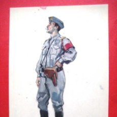 Postales: UNIFORMES MILITARES PORTUGUESES. OFICIAL DE SERVICIO-PIQUETE. .. Lote 45139187