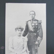 Postales: POSTAL FAMILIA REAL ESPAÑOLA. SS.MM. D. ALFONSO XIII Y Dª VICTORIA EUGENIA. HAUSER Y MENET. . Lote 45632233