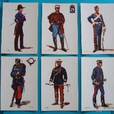 Postales: POSTALES DE UNIFORMES MILITARES ESPAÑOLES 1850 1900 EDICION 1979, 35 POSTALES. Lote 45660086