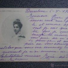 Postales: FAMILIA REAL INFANTA Mª TERESA COLECCIÓN ROMO Y FUSSEL POSTAL CIRCULADA EN 1901. Lote 45677231