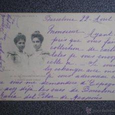 Postales: FAMILIA REAL PRINCESA DE ASTURIAS COLECCIÓN ROMO Y FUSSEL POSTAL CIRCULADA EN 1901. Lote 45677242